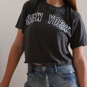 New York (Yankee's) Cropped Sports Tee